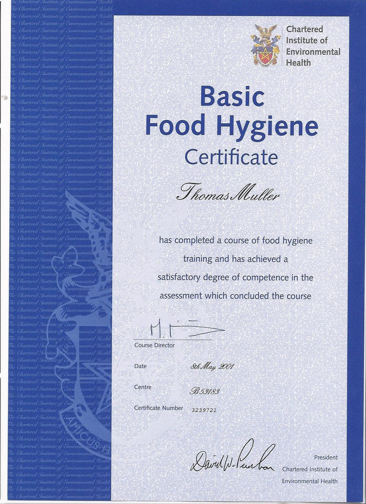 Food Safety And Hygiene Certificate Online